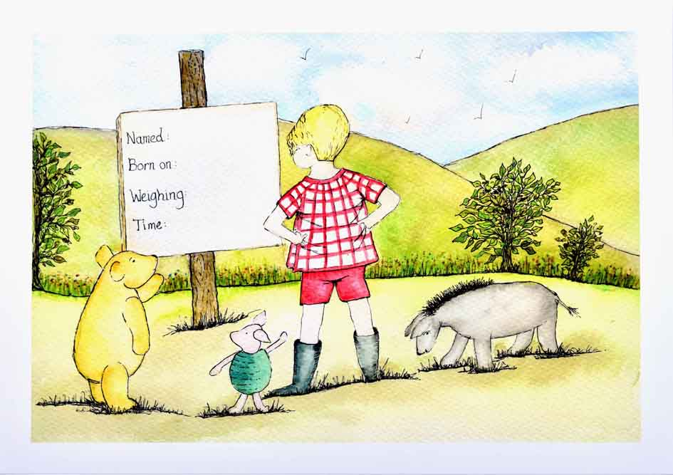 Christopher Robin and Friends - Un-Mounted Print