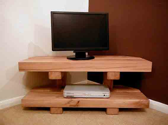 Oak beam TV stand