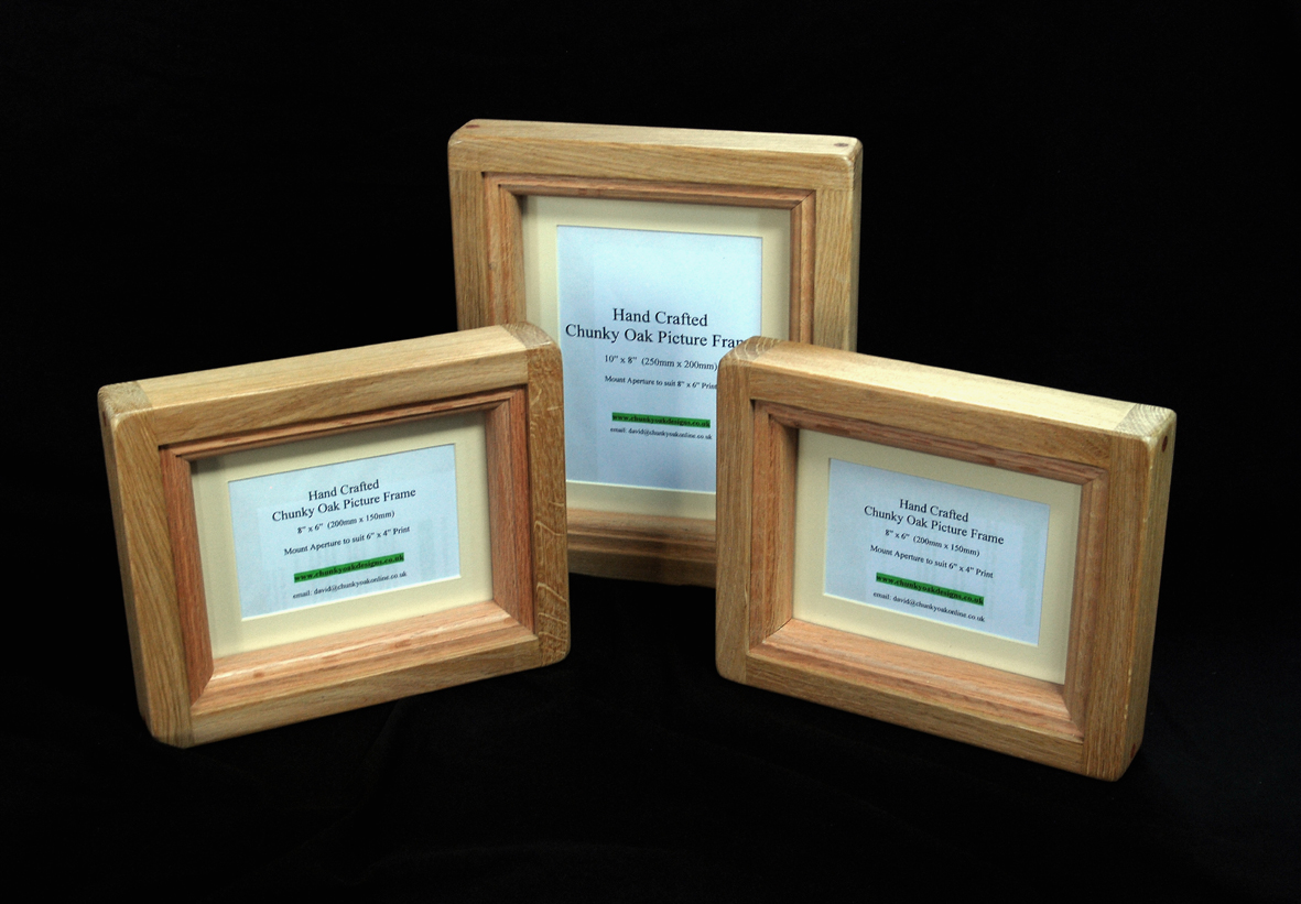 "The "" Chunky Oak "" range of picture / photo frames."