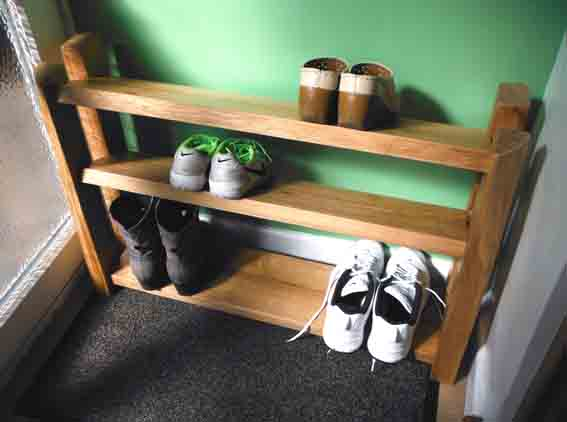Chunky Oak Shoe Rack