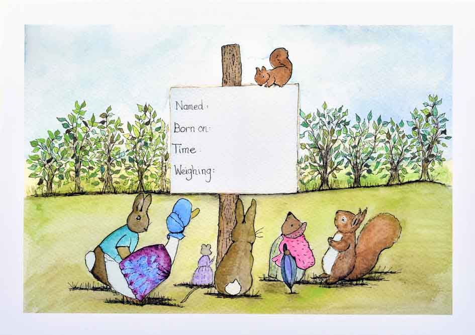Woodland Friends - Un-mounted Print