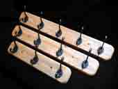 3 Hook Oak Plinth Coat Rack