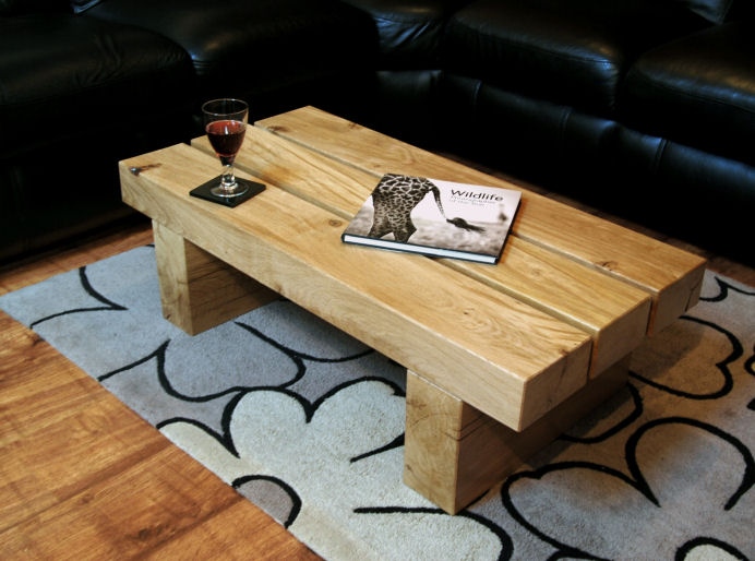 Chunky oak coffee table images for Large chunky coffee table