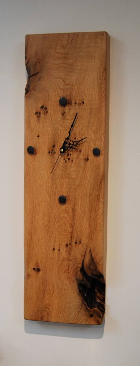Oak Beam Wall Clock